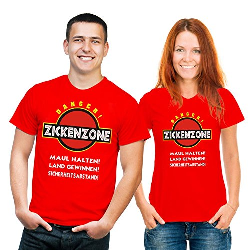 Fun T-shirt Zickenzone Gr XXL Fb rot