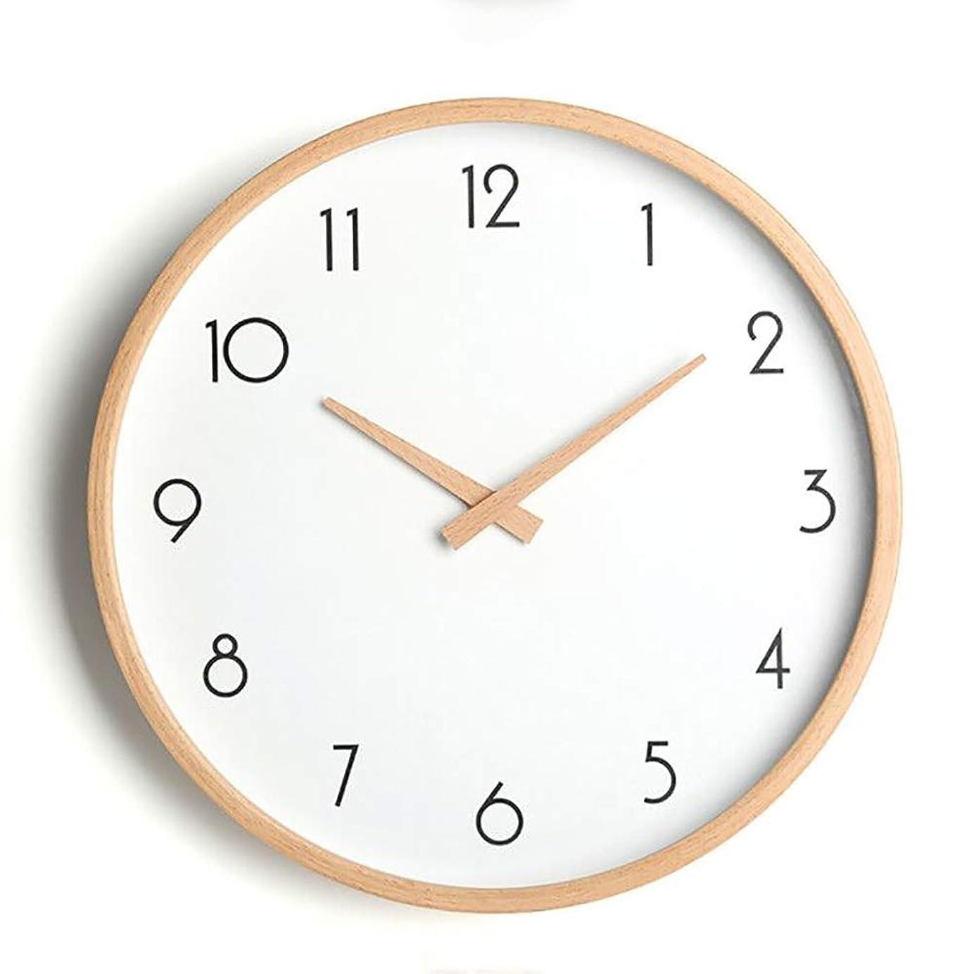 薬剤師縮約シェルPFLife 掛け時計 木製 おしゃれ 静音 北欧 デザイン Wall Clock 木枠 壁掛け シンプル 部屋装飾 クロック インテリア (C, 12インチ)