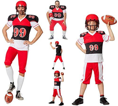 Wilbers NEU Herren-Kostüm American Football, Gr. 64