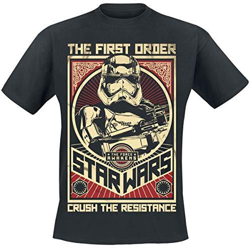 Star Wars Épisode 7 - Le Réveil De La Force - Stormtrooper Crush The Resistance Homme T-Shirt Manches Courtes Noir XXL
