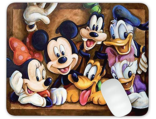 Mickey Mouse and Donald Duck and Goofy Mouse Pad Office Mouse Pad Gaming Mouse Pad Mat Mouse Pad