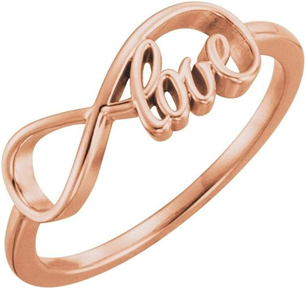 Love Infinity-Inspired Ring Band (Width = 16.2mm)