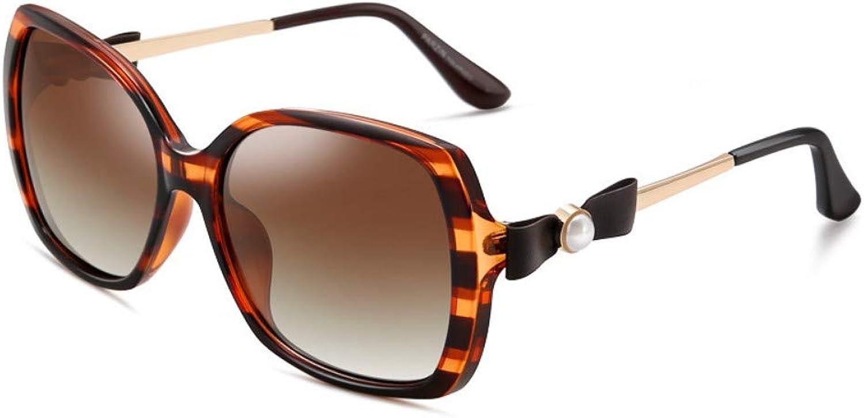 Polarized Sunglasses Women'S Retro Big Box Driving Trends Sunglasses Tea Box