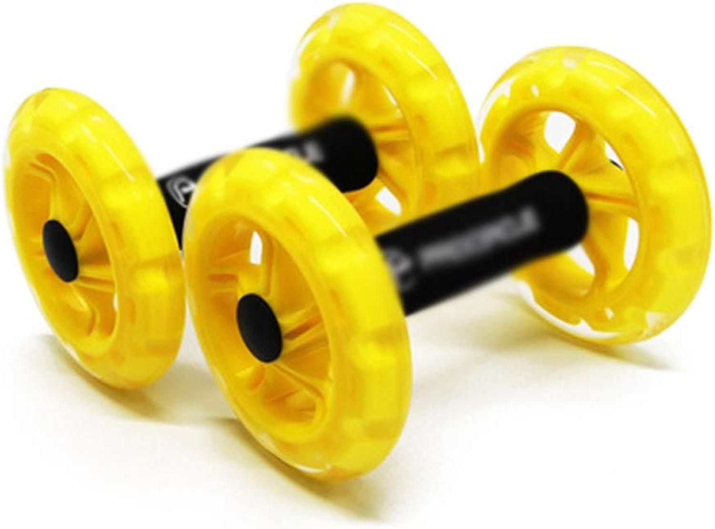 QPSGB Roller bauchtrainer- Heimtrainer - Power Wheels Home Gewichtsrotuzierung Abdominal Fitness Trainer Silent Abdominal Wheel -Roller bauchtrainer (gre   C)