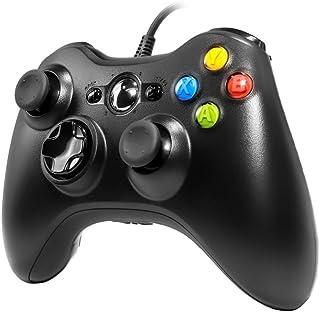 有線コントローラー Xbox 360 Tiiroy 2.4GHz 有線コントローラー ジョイスティック ゲームパッド リモコン Xbox360 PC Windows 7 8 10用 (ブラック)