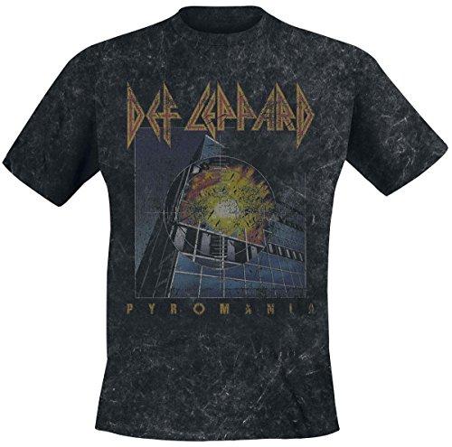 Def Leppard Vintage Pyromania T-shirt noir XL