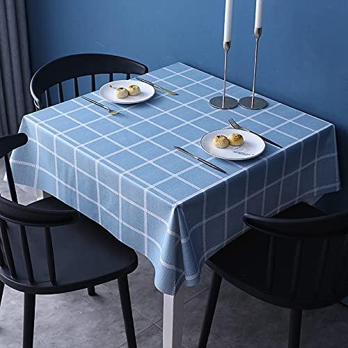 NOBCE Mantel De PVC Reutilizable Antiincrustante Y A Prueba De Aceite Mantel Rectangular Apto para Manteles Multiusos De Interior Y Exterior 140x140cm