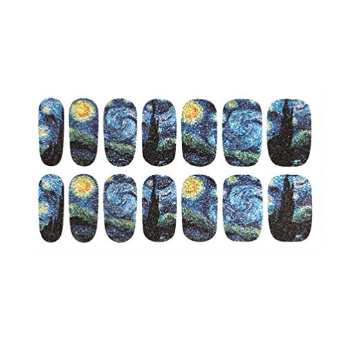 Beaupretty Nail Wraps Starry Night Sky Nail Sticker Mysterious Nail...