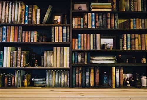 EdCott 5x3 pies Poliéster Libros Antiguos estantería Retro Telón Fondo Biblioteca histórica Fotografía Fondo Interior Decoraciones Fondo Pantalla Actividades Lectura Fondo Photo Sin Arrugas