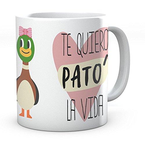 PANISCUS Taza para Regalar Te Quiero Pato La Vida Modelo Chico Chica Regalo para Amigo o San Valentin