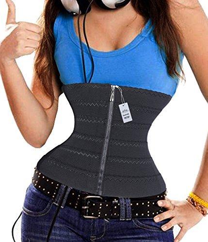 Gotoly Keep Warm Strap Waist Training Workout Sport Gym Corsets Plus Size (XXXL, Black(Super Comfy))