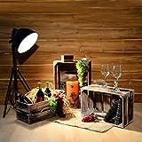 Divero 4er Set Vintage Holzkisten geflammt Braun Staubox Weinkiste Obstkiste Aufbewahrungsbox 4 Größen Stapelbox Spielzeugkiste Regal-Box - 6