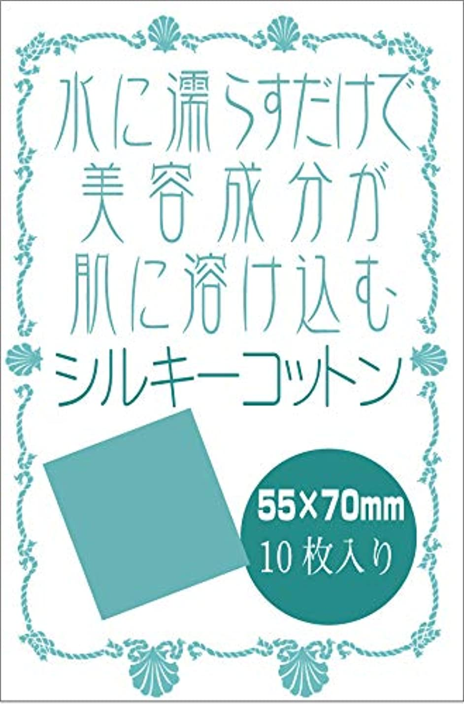 適用済みレギュラーハロウィン天然シルク100% シルキーコットンパフ 10枚入り セリシン オーガニック 絹パック 水に濡らすだけ