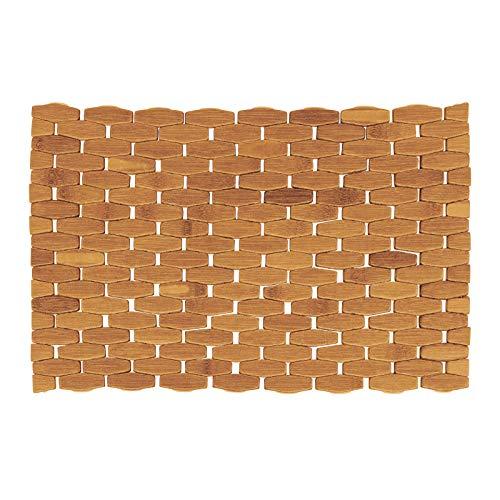 Westmark Bambus-Tischset/Platzdeckchen, handgefertigt, rechteckig, 45 x 29 cm, Bambus, Saleen-Edition: Trapez, Hellbraun, 701222E1