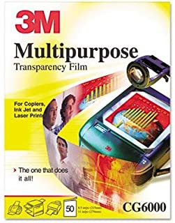 3M - Multipurpose Transparency Film Sensing Stripe Letter Clear 50/Box Product Category: Paper & Printable Media/Transparency Film & Frames