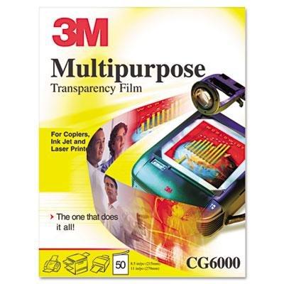 3M - Multipurpose Transparency Film Sensing Stripe Letter Clear 50/Box Product Category: Paper & Printable Media/Transparency Film & Frames