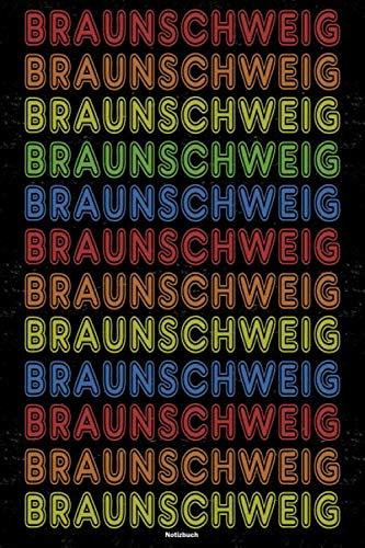 Braunschweig Notizbuch: Retro Vintage Braunschweig Stadt Journal DIN A5 liniert 120 Seiten Geschenk