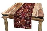 ABAKUHAUS Marocchino Servizio all'Americana, Vintage ottomano Tile, Rettangolare Decorativo per Sala da Pranzo Cucina, 40 cm x 180 cm, Verde Vermilion Rubino