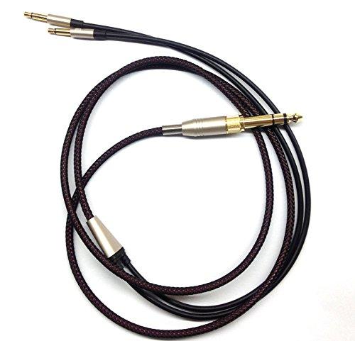 KetDirect - Cable de repuesto para auriculares Denon AH-D600, D7100, Meze 99 Classics/Focal Elear, 150 cm, color negro