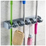 Sorbus Broom and Mop Storage Organizer, Wall Mounted Organizer and Storage, Ideal for the Garage Home, Closet, and Shed, Can Hold up to 11 Different Type of Tools Like Mops Brooms Rakes Shovels Brushes Baseball Bats and Hats Tool Rack