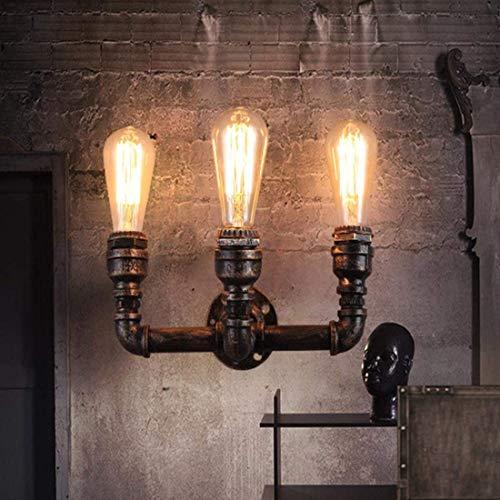 ETH lampe murale Rétro Lampe Murale Industrielle Vintage Design Lumières Muraux Tube Créatif De Tube Robinet Robinet En Fer En Fer Applique Edison Ampoule E27 Douille Luminaire Éclairage Décoratif Int
