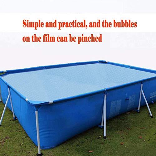 Swimming Pool Solardeckel, rechteckig Pool Cover-Schutz - Einfache Set, Durable Pool Staubschutz Regenschutz Pool Cover zcaqtajro (Color : 1.2 * 1.5m)
