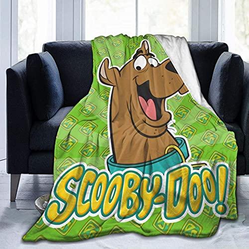 Scoo-by-Do-o - Coperta decorativa per letto in pile, per tutte le stagioni, coperta di qualità super accogliente, per ragazzi reclinabile, 160 x 150 cm