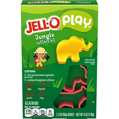 JELLO Play Jungle Cutters Kit Gelatin Dessert Mix (6oz Box)