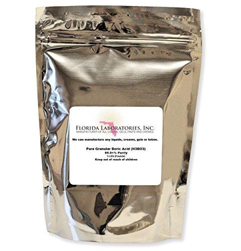 Florida Laboratories Boric Acid Granular Powder 5 Lb. Create Your own Solution