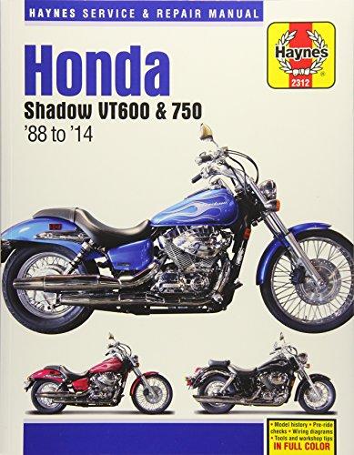 Honda Shadow VT600 & 750  88 to  14 (Haynes Service & Repair Manual)