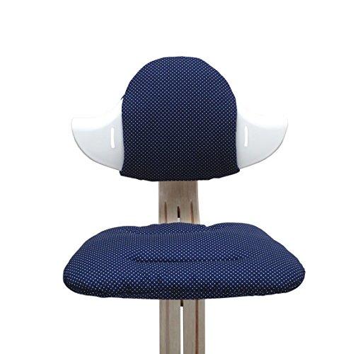 Blausberg Baby - Sitzkissen Set für Nomi Hochstuhl von Evomove - Blau Pünktchen