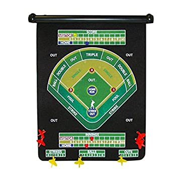 Magnetic Baseball Theme Dart Set Comes with 6 Magnetic Darts Multi