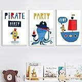 CNHNWJ Kinderzimmer Dekorative gemälde Cartoon Party