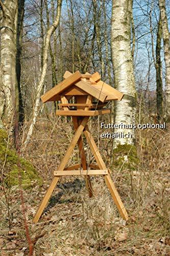 Luxus-Vogelhaus 46300e Massiver Eichenholz-Vogelhaus-Ständer (geölte Eiche) Futterhaus-Ständer - 4