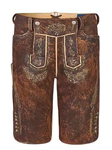 Almbock Damenlederhose - Lederhose Damen Wildbock (100% Wildleder) - Damen Lederhose Bayern braun Used in Gr. 38