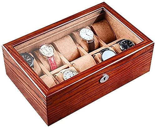 Makeup mirror DBL Caja de visualización de la Caja de Almacenamiento de la Caja con Llave y Bloqueo con la Caja de joyería Superior de Vidrio 10 Organizador de exhibición de joyería