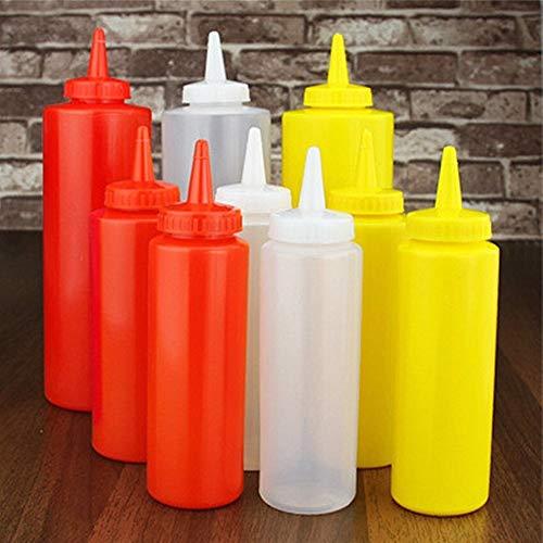 Especieros 5PC Botella Salsa de Miel Crema botella flexible de almacenamiento de la torta Sushi Decoración Herramientas Jam especias salsa de tomate Dispensador un soporte for vasos organizador