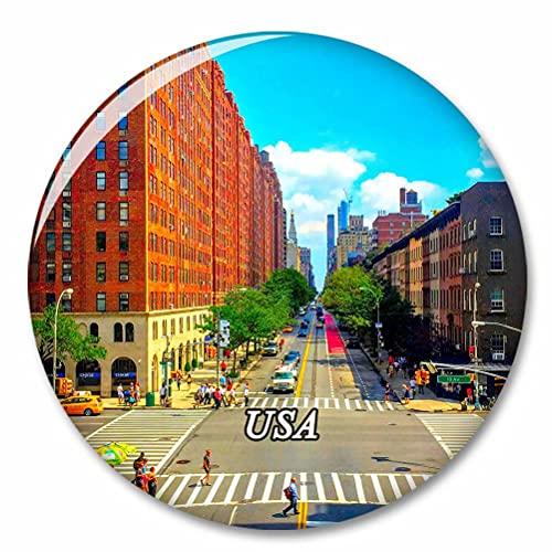Estados Unidos América The High Line Nueva York Imán de Nevera, imánes Decorativo, abridor de Botellas, Ciudad turística, Viaje, colección de Recuerdos, Regalo, Pegatina Fuerte para Nevera