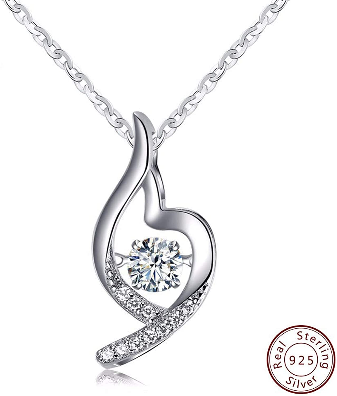 QMM necklace Pendant Sterling Silver 925 Pendants&Necklaces with Movable Crystal Leisure Jewelry for Women