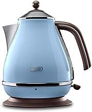 De'Longhi Vintage Icona Kettle, anti-scale filter, 1.7 Liters, 360° swivel base, KBOV3001AZ- Azure Blue