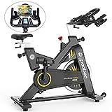 pooboo Commercial Exercise Bikes 44lbs Flywheel Belt Drive Indoor Cycling Bike Gym Stationary Bike...