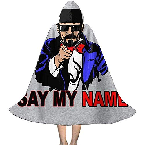Not Applicable Manto De Bruja,Breaking Bad Say My Name Heisenberg To Sam Disfraces De Bruja De Moda para La Fiesta Festiva del Festival 118cm