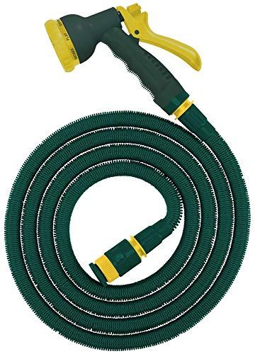 Steuber Flexibler Gartenschlauch Platinum Green mit 8 Sprühkopf-Funktionen, 8,3m, TÜV Süd Siegel, m. Adapter & Verbindungsstück, beliebig erweiterbar