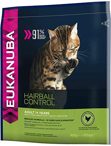 Eukanuba Katze Hairball Control, Premium Trockenfutter zur Reduzierung von Haarballen 400g