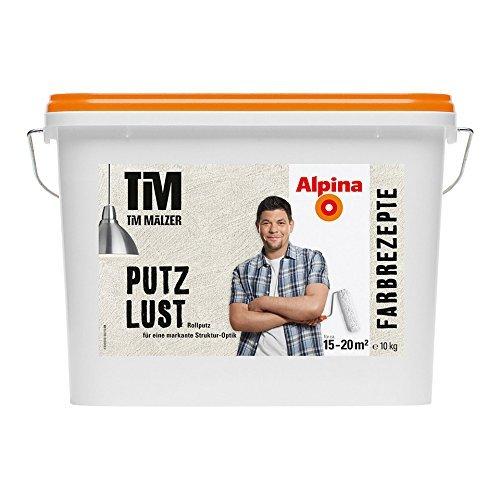 Alpina Farbrezepte körniger Rollputz, PUTZLUST, feinkörniger Putz 10 kg
