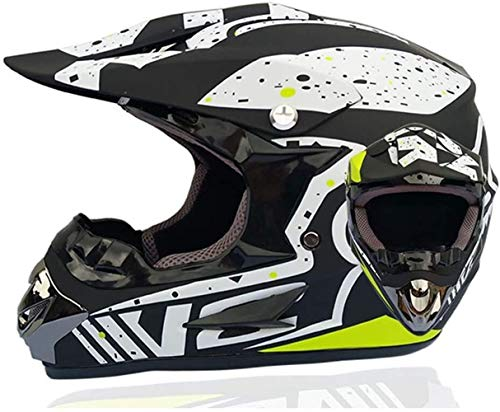 Rmotorcycle Casco clásico de la bicicleta MTB compite con el casco del motocrós de la bici de descenso anteojos del casco del casco de la juventud del motocrós (Color : CC37)
