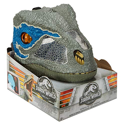 JURASSIC WORLD CHOMP 'N ROAR MASK Velociraptor 'Blue'
