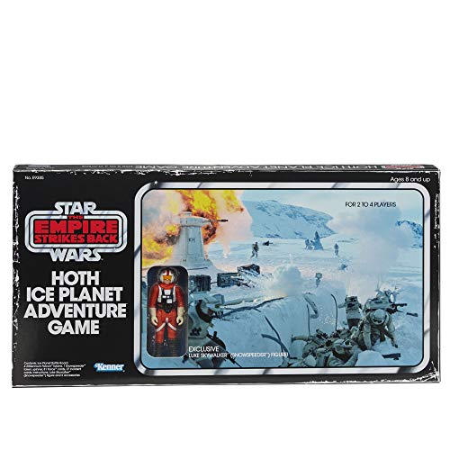 Hasbro Gaming Star Wars The Empire Strikes Back Hoth Ice Planet Adventure Board Game; Based on The 1980 Board Game; Exclusive Luke Skywalker (Snowspeeder) Figure