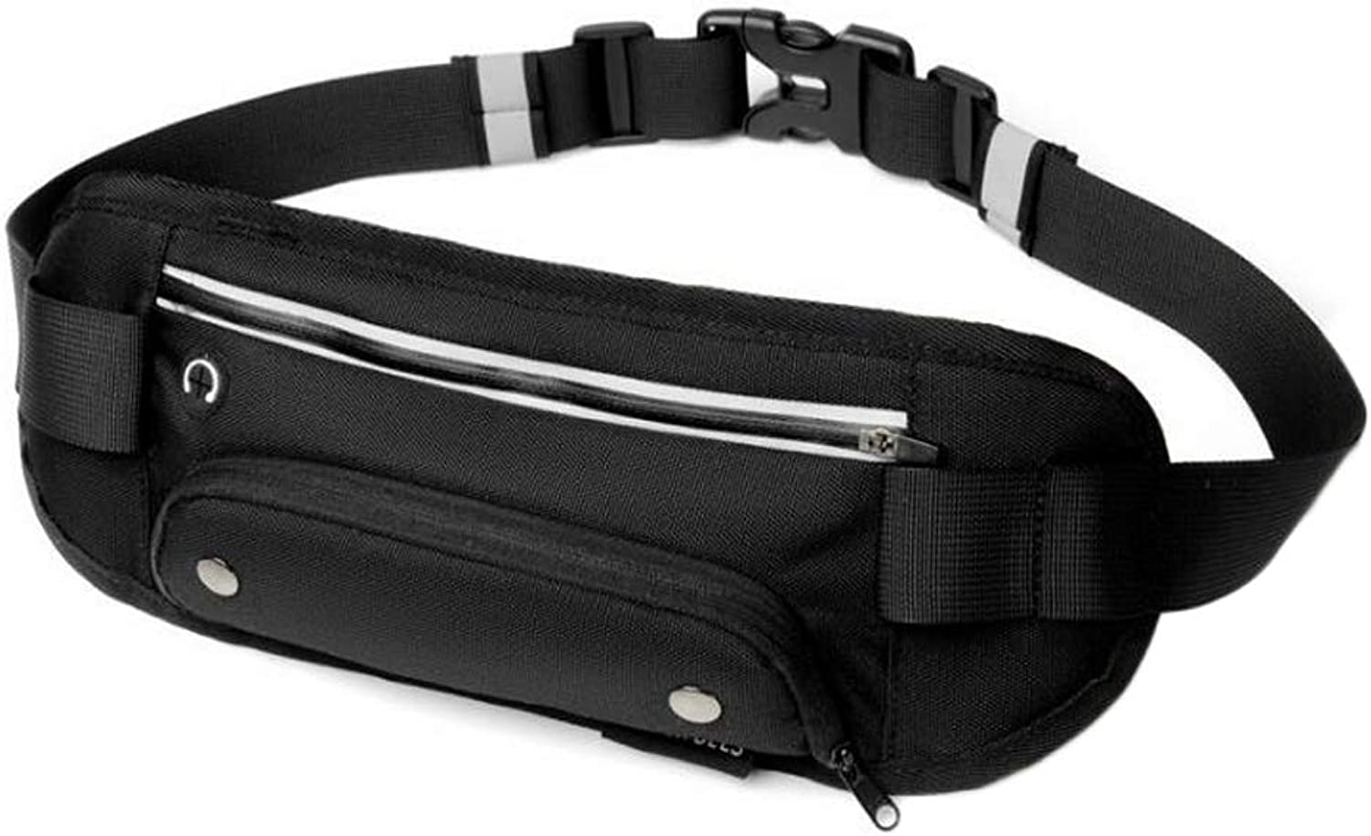 Fanny Pack Waist Pack with Bottle Holder Waterproof Running Waist Belt for Men and Women Multiple Pockets Sturdy Zippers Ideal for Hiking Running Cycling