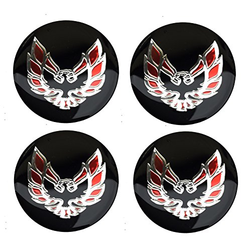 "Set Of 4 1.5"" Pontiac Firebird Trans Am Ta Wheels Steering Wheel Shift Knob Emblems Decals"